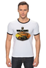 "Футболка Рингер ""World Of Tanks"" - игра, game, world of tanks, танки, wot"