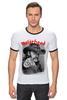 """Футболка Рингер """"Motorhead"""" - heavy metal, хэви метал, motorhead, lemmy, моторхэд"""