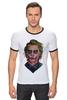 "Футболка ""Рингер"" (Мужская) ""Джокер"" - комикс, joker, джокер, супергерои, бэтмен"