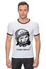 """Футболка """"Рингер"""" (Мужская) """"Гагарин: поехали """" - space, ссср, космос, ussr, герой, astronaut, космонавт"""