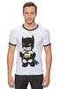 "Футболка ""Рингер"" (Мужская) ""Batman"" - batman, бэтмен"