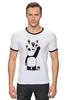 "Футболка ""Рингер"" (Мужская) ""Панда вандал"" - животные, панда, panda, wwf, вандал"