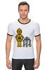 "Футболка Рингер ""Star Wars"" - star wars, звёздные войны, robots, s3po, r2d2, дроид"