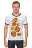 """Футболка Рингер """"Хохлома"""" - арт, цветы, хохлома"""