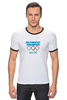 "Футболка Рингер ""Olympic Champion"" - olympic games, sochi 2014, сочи 2014, олимпийские игры"