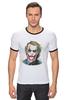 """Футболка Рингер """"Dark Knight"""" - joker, batman, джокер, бэтмен, хит леджер"""