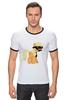 """Футболка Рингер """"My Little Pony - AppleJack (ЭпплДжек)"""" - mlp, пони, усы, эппл джек, инкогнито"""