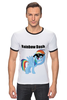 "Футболка Рингер ""Rainbow Dash"" - mlp, my little pony, rainbow, dash, friendship is magic, dashie, coller"
