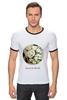 """Футболка """"Рингер"""" (Мужская) """"Сумочка для упаковки подарка"""" - любовь, цветы, весна, свадьба, невеста, подарок, молодожены, букет, spring"""