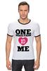 """Футболка """"Рингер"""" (Мужская) """"One Direction"""" - one direction, бой-бэнд"""