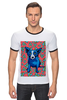 """Футболка Рингер """"Синий Пес"""" - сердце, dog, пес, собака, blue dog"""