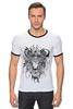 """Футболка Рингер """"астролев"""" - лев, lion, ловец снов, амулет, dreamcatcher"""