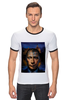 "Футболка ""Рингер"" (Мужская) ""Путин vs Обама"" - америка, россия, обама, путин, президент"