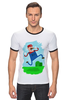 "Футболка ""Рингер"" (Мужская) ""Марио (Mario)"" - nintendo, mario, марио, грибочек"