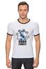 "Футболка Рингер ""Символ RoboComics "" - арт, робот, robots, робокомикс, robocomics"