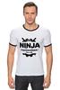 "Футболка ""Рингер"" (Мужская) ""Ninja Programmer"" - ниндзя, программист, ninja programmer"