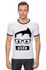 "Футболка Рингер ""Geek (Гик)"" - geek, гик"
