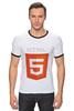 "Футболка ""Рингер"" (Мужская) ""HTML5"" - html5"