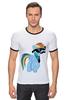 """Футболка """"Рингер"""" (Мужская) """"20 % cooler"""" - pony, rainbow dash, mlp, пони, ponies"""