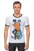 """Футболка """"Рингер"""" (Мужская) """"Nyan Cat & Tac Nayn T-shirt"""" - cat, nyan, nyancat, tacnayn"""