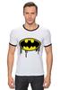 "Футболка ""Рингер"" (Мужская) ""Бэтмен (Batman)"" - batman, бэтмен"