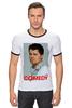 "Футболка Рингер ""Comedy Club"" - телешоу, гарик бульдог харламов, гарик харламов, comedy club, шоу"