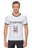 """Футболка """"Рингер"""" (Мужская) """"Чаппи (Chappie)"""" - chappie, чаппи"""