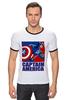 "Футболка Рингер ""Капитан Америка"" - комиксы, кэп, мстители, марвел, капитан америка"