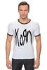 "Футболка ""Рингер"" (Мужская) ""Korn (KoЯn)"" - korn, ню-метал"