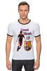 "Футболка Рингер ""Cesare-FC Batcelona 80"" - barcelona, messi, lionel messi"