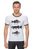 """Футболка """"Рингер"""" (Мужская) """"Коллекция рыб"""" - рыба, fish, рыбалка"""