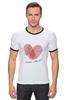 """Футболка Рингер """"Самый любимый"""" - сердце, 23 февраля, день защитника отечества, любимый"""