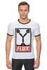 """Футболка """"Рингер"""" (Мужская) """"Flux Capacitor (Назад в Будущее)"""" - назад в будущее, obey, back to the future, flux capacitor"""