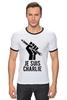 """Футболка """"Рингер"""" (Мужская) """"Je Suis Charlie, Я Шарли"""" - charlie, шарли, je suis charlie, hebdo, сатирический"""