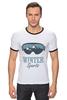 "Футболка ""Рингер"" (Мужская) ""Зимний Спорт (Winter Sport)"" - очки, горы, лыжи, сноуборд, snowboard"