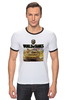 "Футболка ""Рингер"" (Мужская) ""World Of Tanks"" - игра, game, world of tanks, танки, wot"