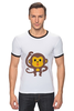 "Футболка Рингер ""Мартышка"" - мартышка, monkey, макака"