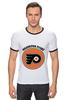 "Футболка ""Рингер"" (Мужская) ""Philadelphia Flyers"" - спорт, хоккей, nhl, нхл, филадельфия флайерз"