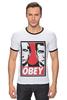 "Футболка ""Рингер"" (Мужская) ""OBEY"" - путин, obey, putin, дмитрий медведев"