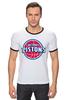 "Футболка ""Рингер"" (Мужская) ""Detroit Pistons"" - баскетбол, nba, detroit, нба, detroit pistons, детройт пистонс"