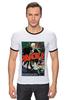"""Футболка Рингер """"ретро постер"""" - ретро, кино, вампиры, постер, дракула"""