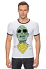 "Футболка ""Рингер"" (Мужская) ""Психоделика"" - zombie, зомби, green, shades"