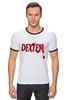 """Футболка """"Рингер"""" (Мужская) """"Dexter (Декстер)"""" - dexter, декстер, serial killer, серийный убийца"""