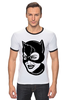 "Футболка Рингер ""Женщина-кошка (Catwoman)"" - catwoman, dc comics, женщина-кошка, batman, бэтмен"