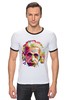 "Футболка ""Рингер"" (Мужская) ""Альберт Эйнштейн (Albert Einstein)"" - albert einstein, физика, полигоны, polygons, альберт эйнштейн"