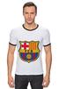 "Футболка ""Рингер"" (Мужская) ""Барселона"" - футбол, клуб, barcelona, барселона, испания, football club"