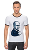 """Футболка """"Рингер"""" (Мужская) """"Путин - like"""" - россия, путин, like, президент, putin"""