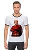 "Футболка Рингер ""Путин Суперчеловек"" - путин, putin, суперчеловек"