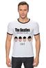 "Футболка ""Рингер"" (Мужская) ""The Beatles 1963 "" - rock, england, великолепная четвёрка"