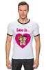 """Футболка """"Рингер"""" (Мужская) """"love is..."""" - heart, i love, love is"""